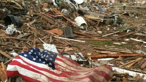 American flag in Moore, OK