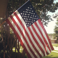 Ole Glory at our house